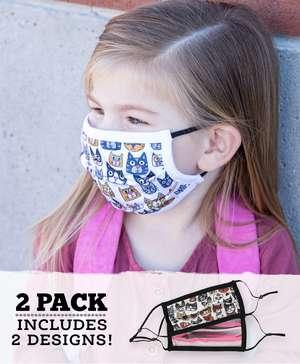 Cattitude Kid Face Mask 2-Pack