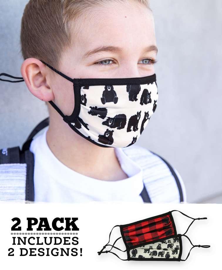 Little Bear Kid Face Mask 2-Pack