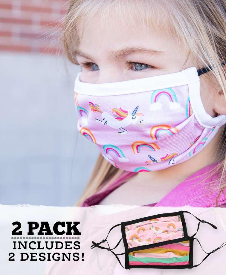 Unicorn Kid Face Mask 2-Pack