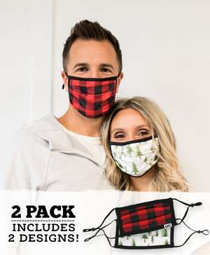 Evergreen Plaid Adult Face Mask 2-Pack