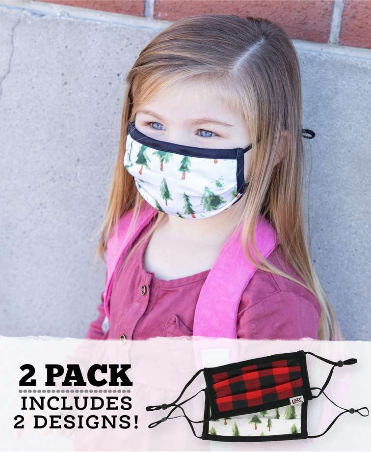 Evergreen Plaid Kid Face Mask 2-Pack