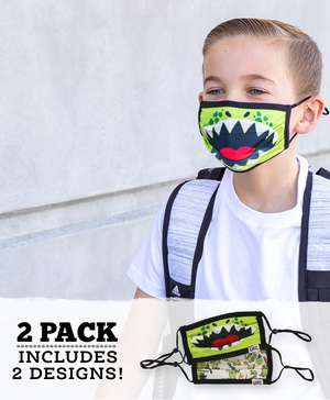 Dino Kid Face Mask 2-Pack