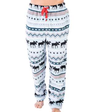 Winter Moose Men's Fleece PJ Pants