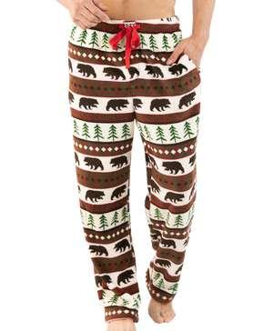 Bear Essentials Men's Fleece PJ Pants