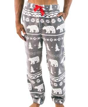 Nordic Bear Men's Fleece PJ Pants