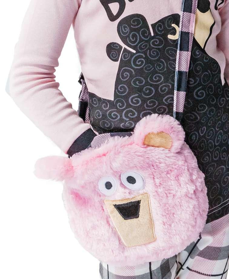 Pink Bear Critter Purse