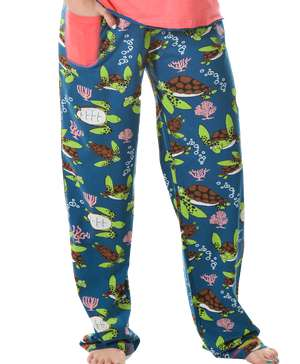 Turtley Awesome Women's Regular Fit PJ Pant (C)