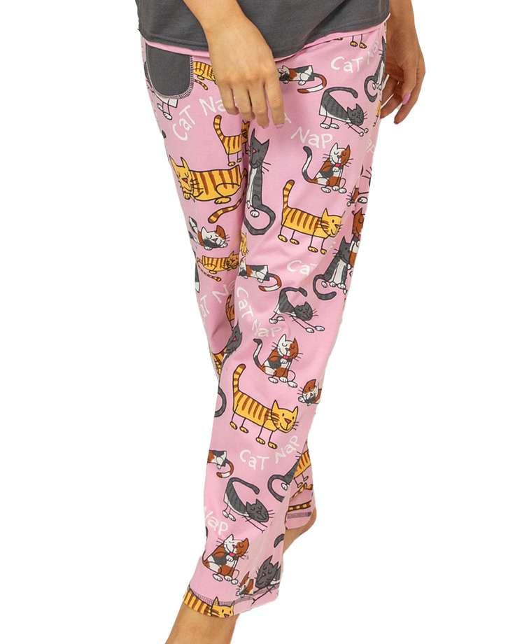 Cat Nap Women's Regular Fit Pj Pant