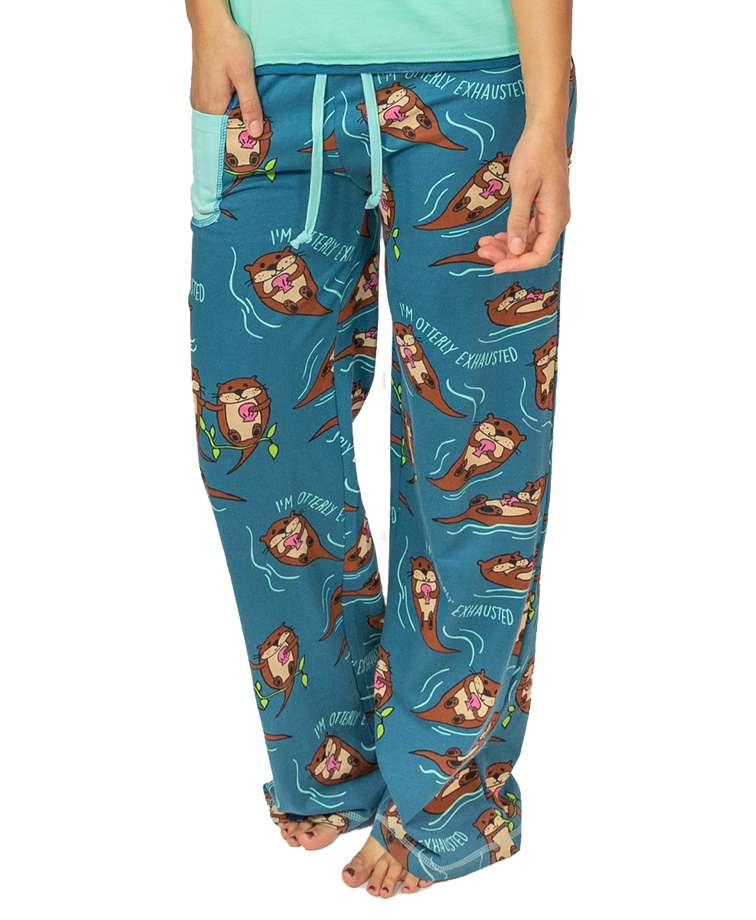 Otterly Exhausted Women's Fitted Pant