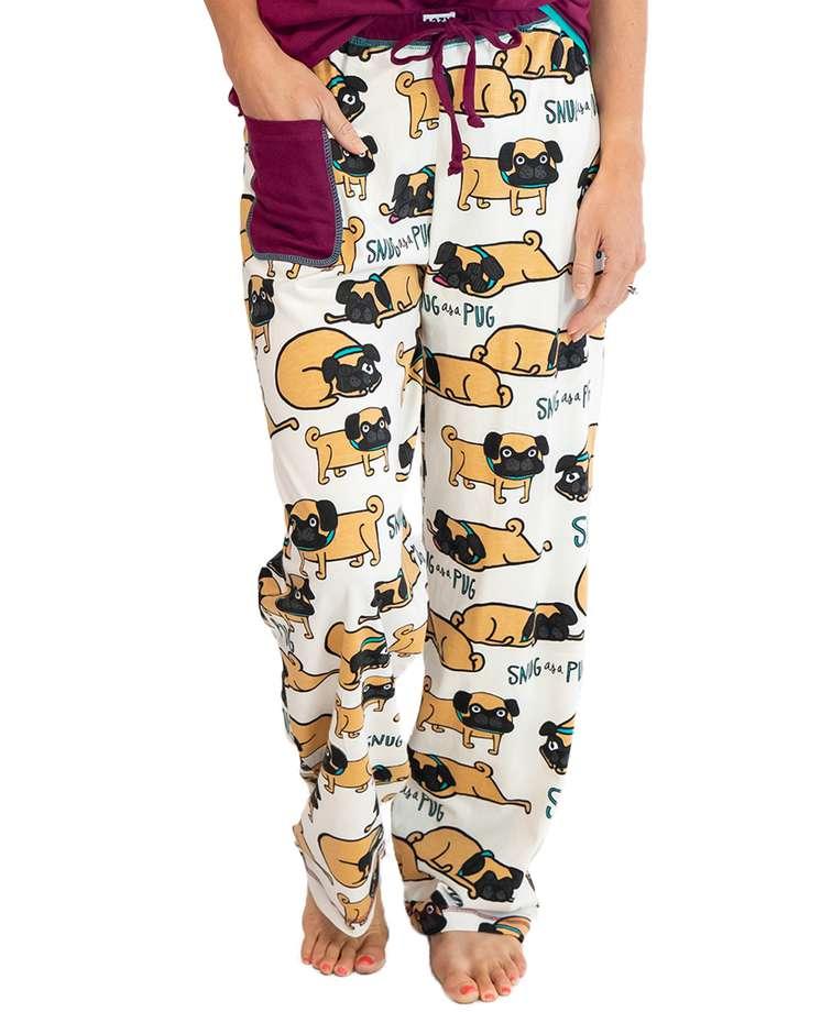 Snug As A Pug Women's Regular Fit PJ Pant