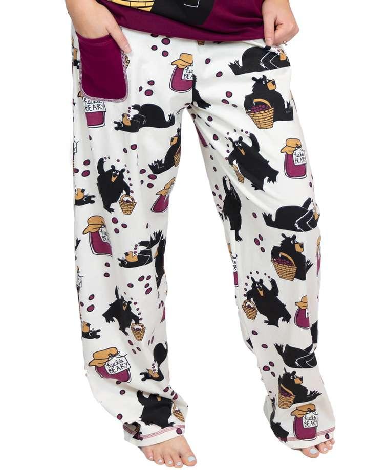 Hucklebeary Women's Regular Fit Bear PJ Pant