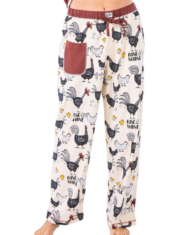 Rise & Shine Women's Regular Fit Chicken PJ Pant