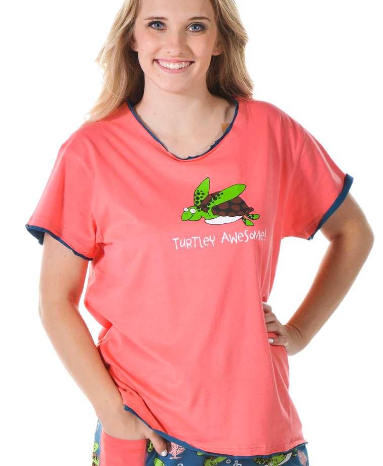 Turtley Awesome Women's Regular Fit PJ Tee (C)