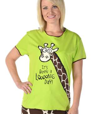 Looong Day Women's Regular Fit Giraffe Tee