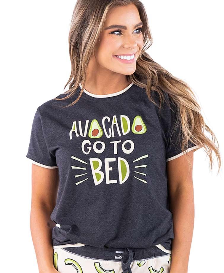 Avocado Go To Bed Women's Regular Fit PJ Tee
