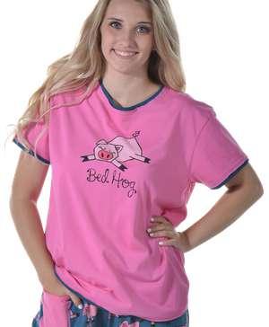 Bed Hog Women's Regular Fit Pig PJ Tee