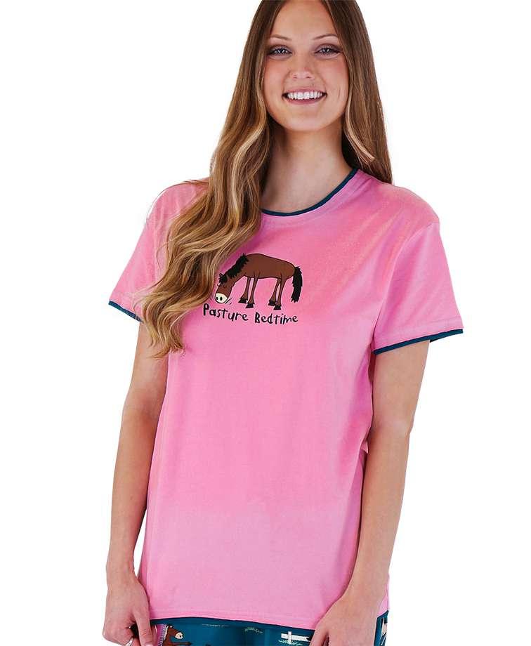 Pasture Bedtime Women's Regular Fit Horse PJ Tee
