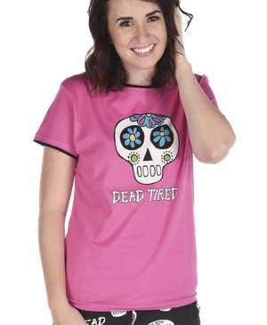 Dead Tired Women's Skull PJ Tee
