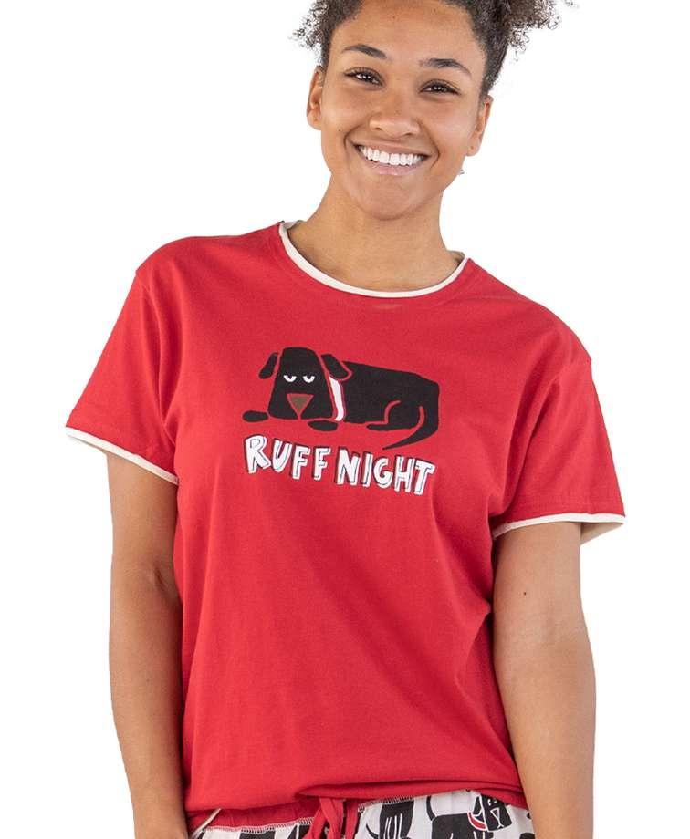 Ruff Night Women's Regular Fit Dog PJ Tee