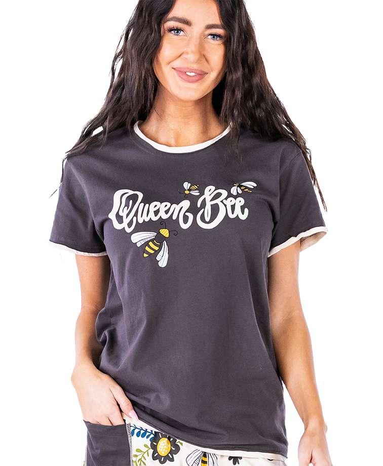 Queen Bee Women's Regular Fit PJ Tee