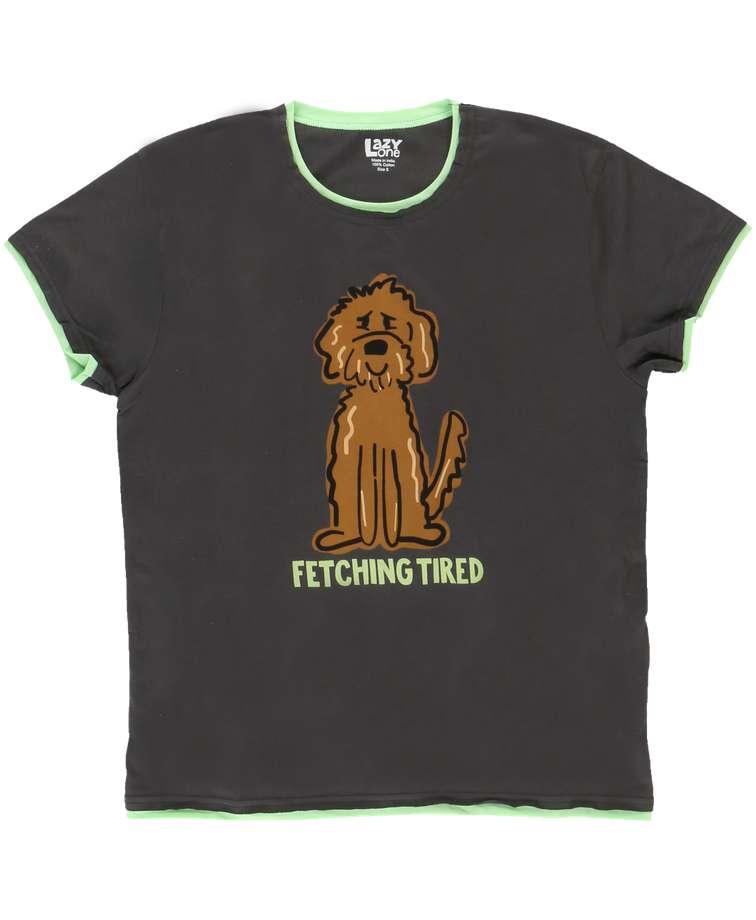Fetching Tired Women's Regular Fit Dog PJ Tee
