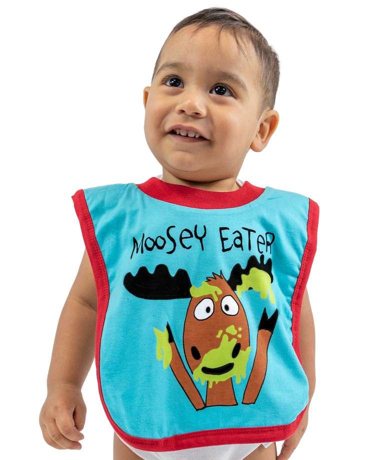 Moosey Eater Boy Infant Bib