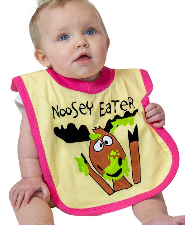 Moosey Eater Girl Infant Bib