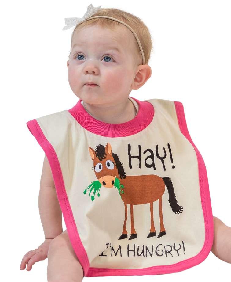Hay I'm Hungry Infant Bib