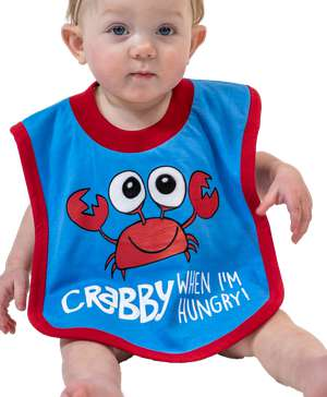 Crabby When I'm Hungry Crab Infant Bib