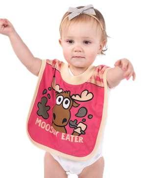 Moosey Eater Pink Infant Bib
