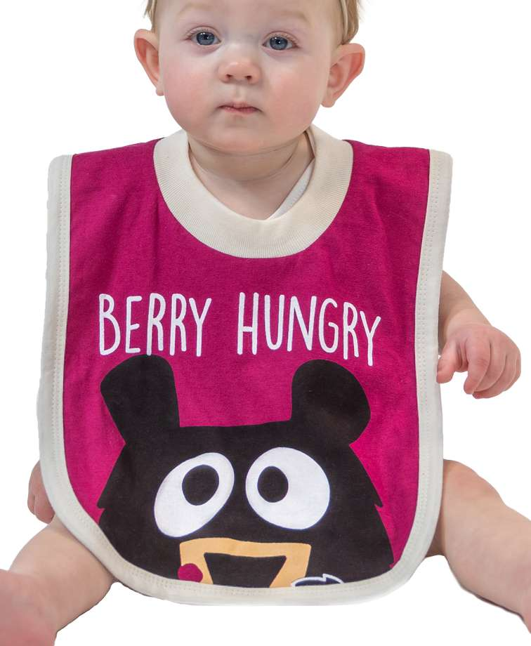 Huckleberry Bear Infant Bib