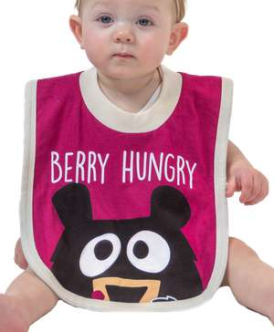 Huckleberry Bear Infant Bib