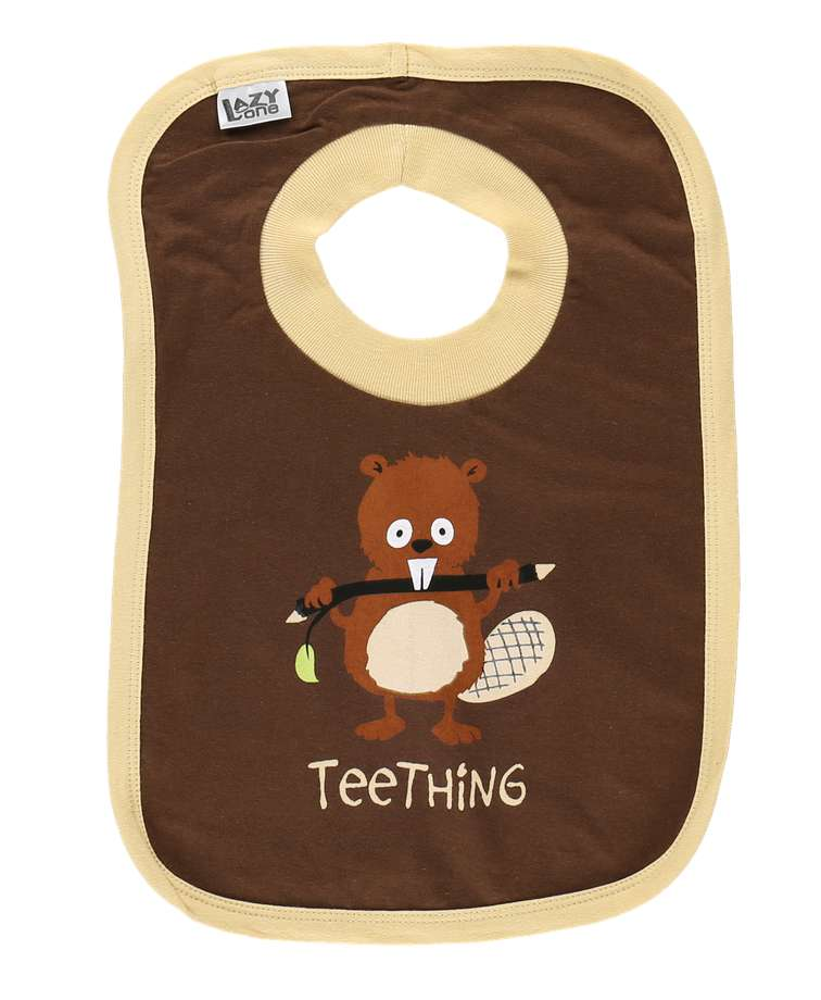 Teething Beaver Infant Bib