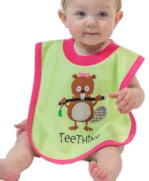 Teething Girl Beaver Infant Bib