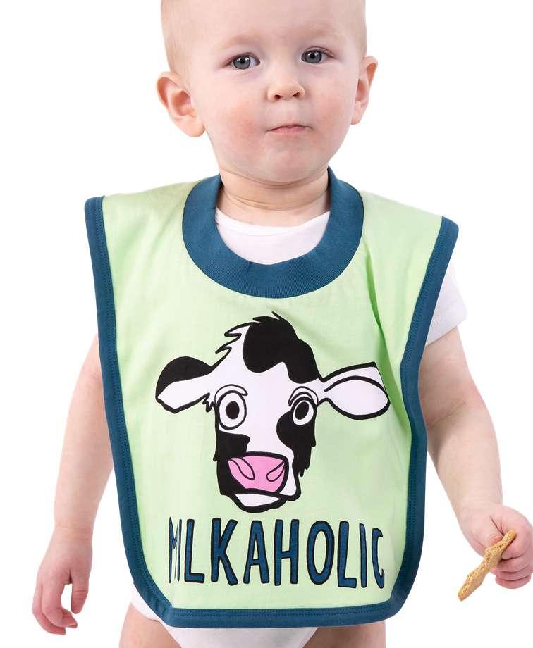Milkaholic Cow Infant Bib