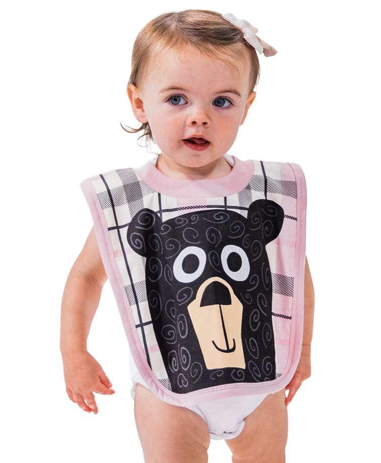 Bear Hug Pink Infant Bib