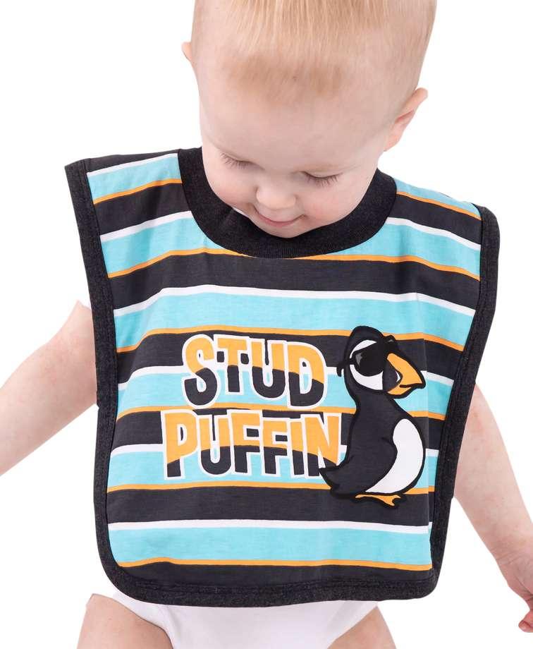 Stud Puffin Infant Bib