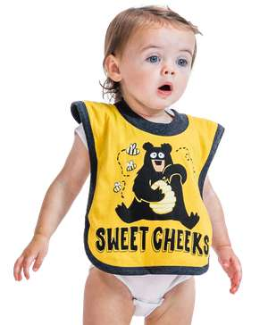 Sweet Cheeks Bear Infant Bib