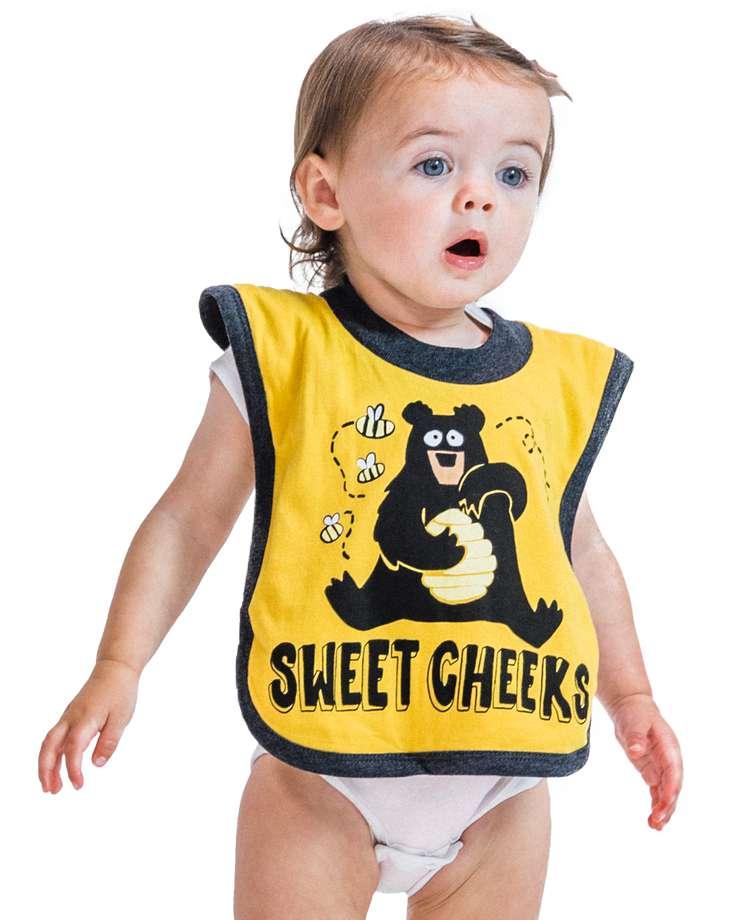 Sweet Cheeks Bear Infant Bib