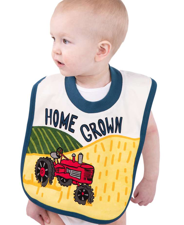 Home Grown Tractor Infant Bib