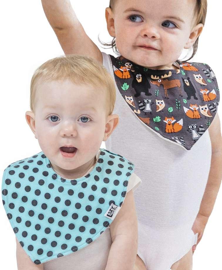 Born To Be Wild 2 Pack Infant Bandana Bib