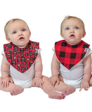 Don't Wake The Bear 2 Pack Infant Bandana Bib
