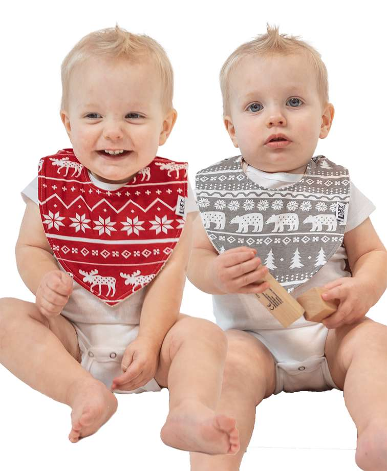 Nordic 2 Pack Infant Bandana Bib