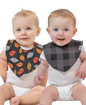 Leaves 2 Pack Infant Bandana Bib