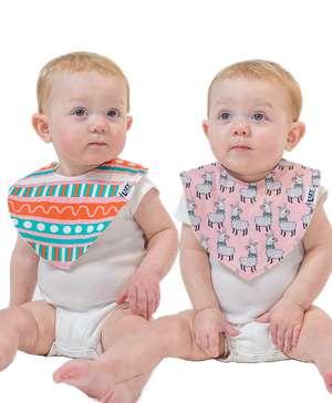 Llama 2 Pack Infant Bandana Bib