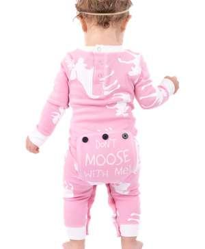 Classic Moose Infant Pink Onesie Flapjack