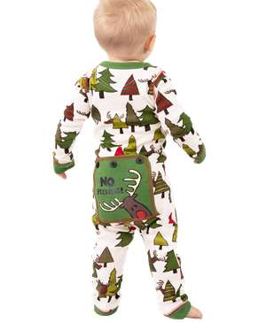 No Peeking! Infant Reindeer Onesie Flapjack