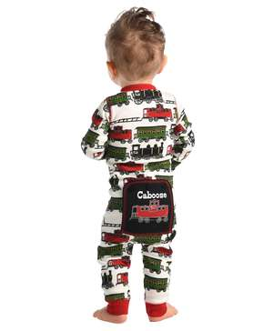 Caboose Infant Train Onesie Flapjack