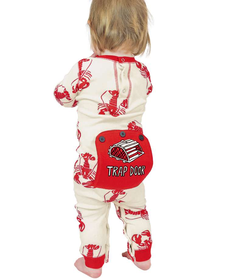 Trap Door Infant Lobster Onesie Flapjack