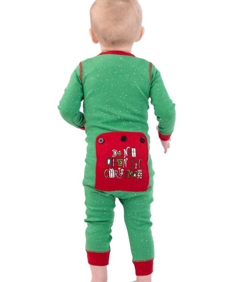 Don't Open Til Christmas Infant Onesie Flapjack
